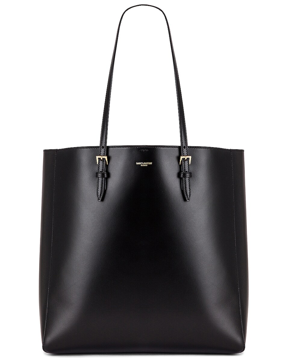 Image 1 of Saint Laurent North South Shopping Tote in Black
