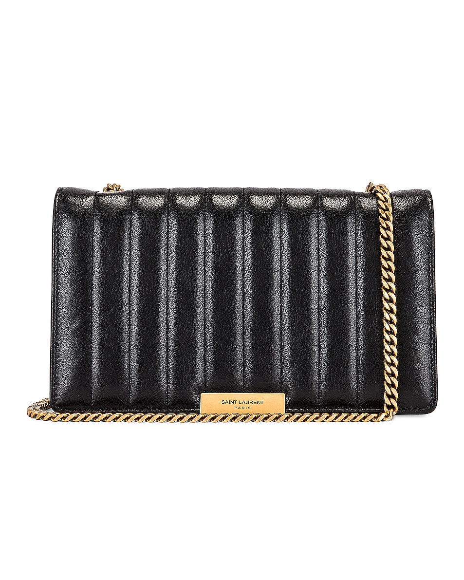 Image 1 of Saint Laurent Amalia Chain Bag in Black