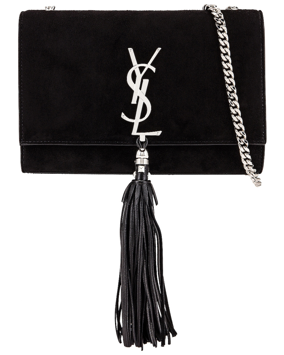 Image 1 of Saint Laurent Small Kate Monogramme Bag in Black