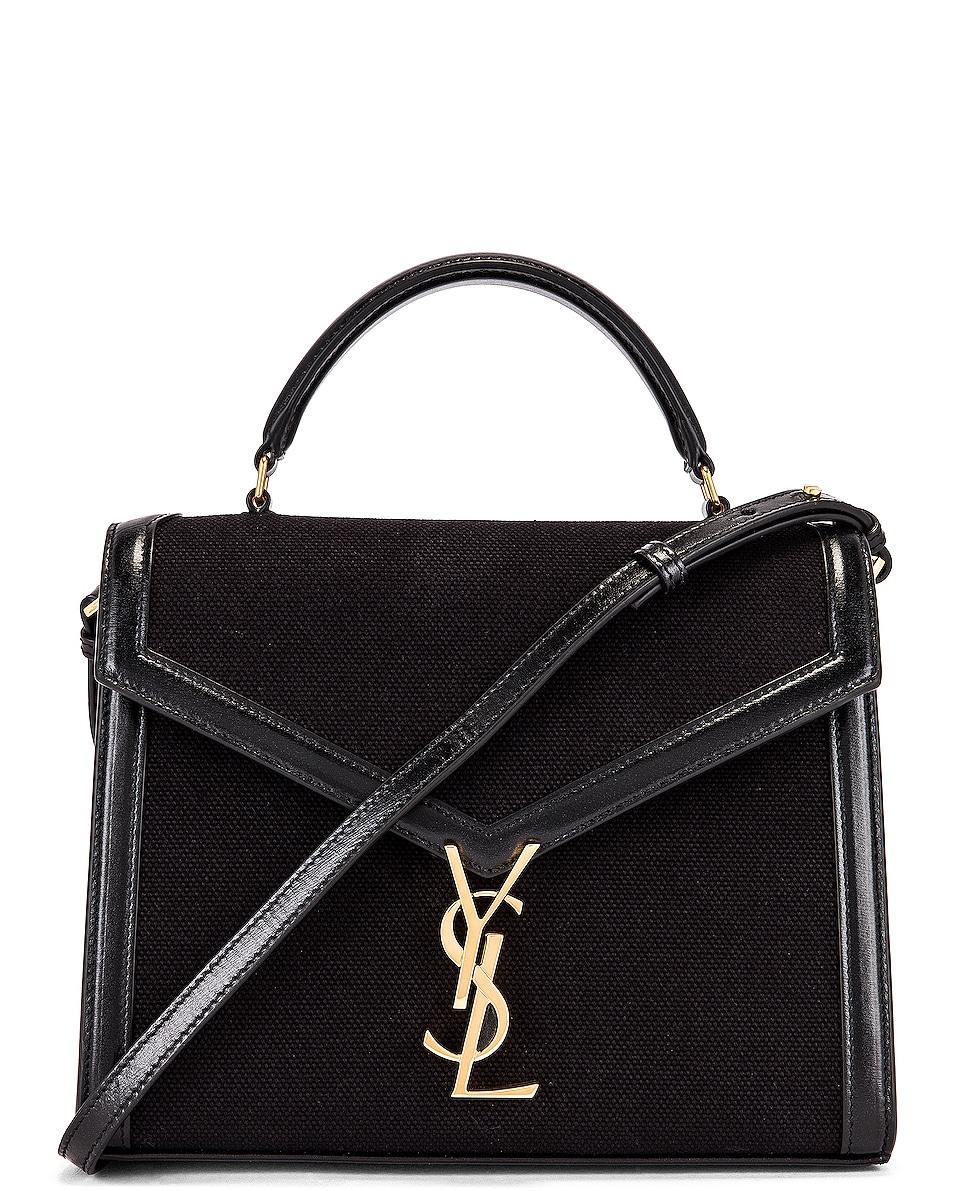 Image 1 of Saint Laurent Cassandra Monogramme Bag in Black