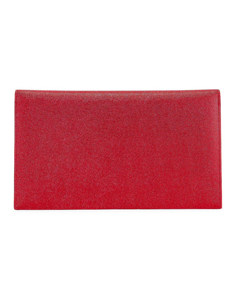 Image 3 of Saint Laurent Medium Clutch in Rouge Eros