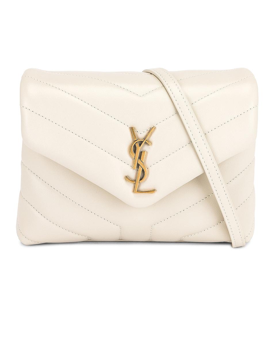 Image 1 of Saint Laurent Toy Loulou Strap Bag in Blanc Vintage