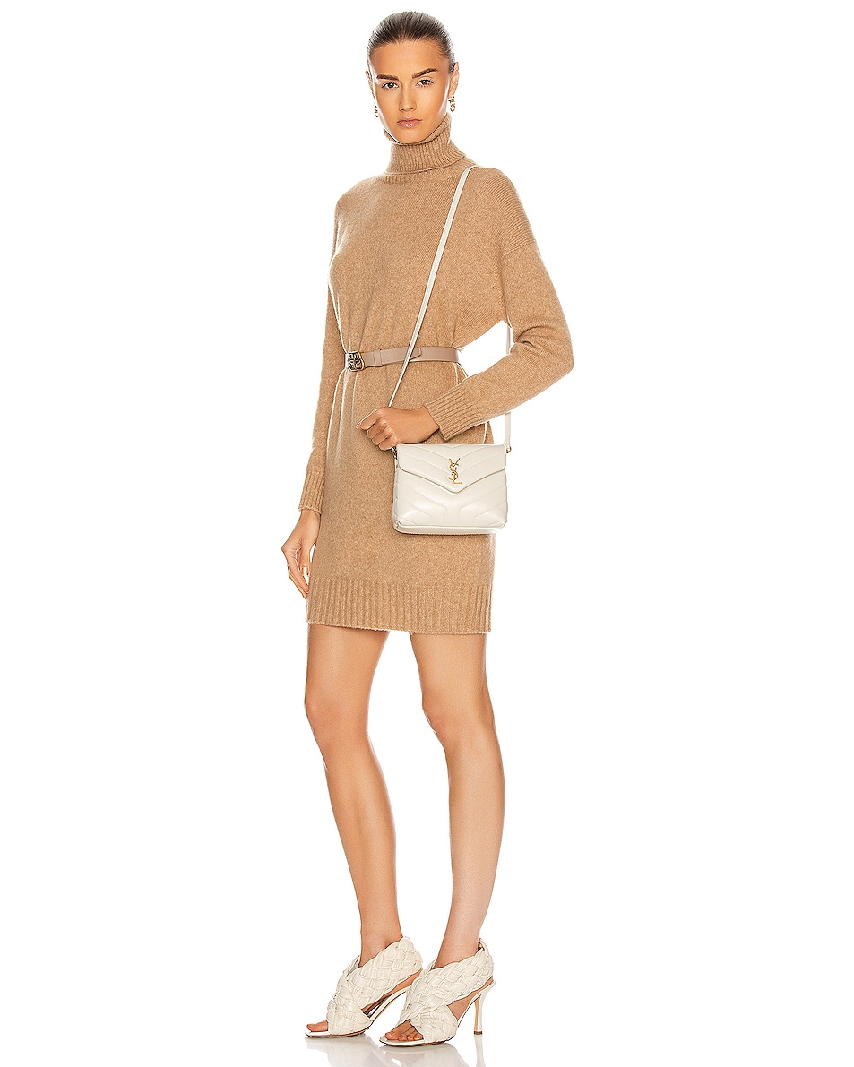Image 2 of Saint Laurent Toy Loulou Strap Bag in Blanc Vintage