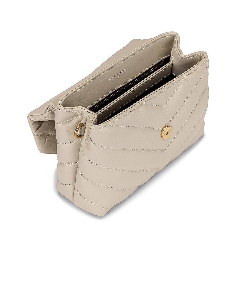 Image 5 of Saint Laurent Toy Loulou Strap Bag in Blanc Vintage