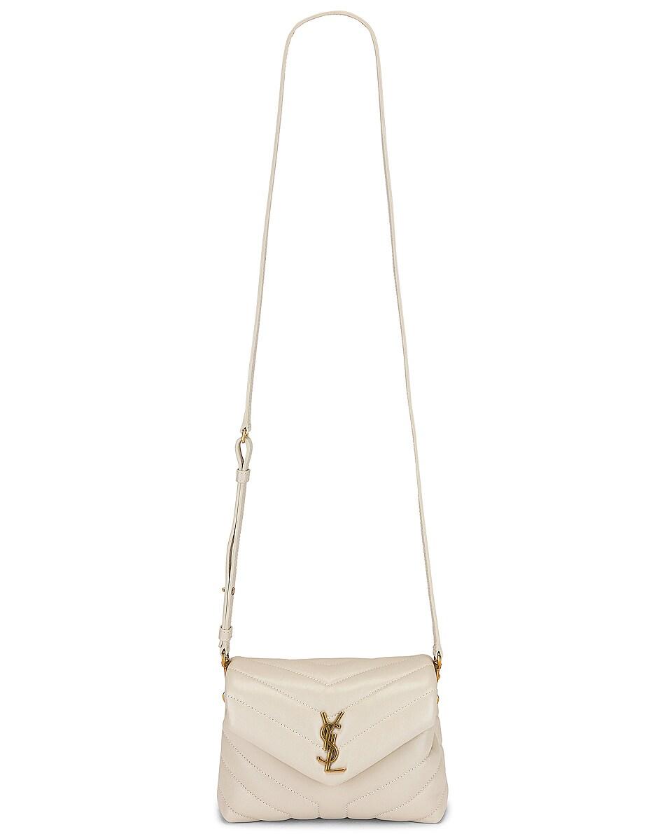 Image 6 of Saint Laurent Toy Loulou Strap Bag in Blanc Vintage