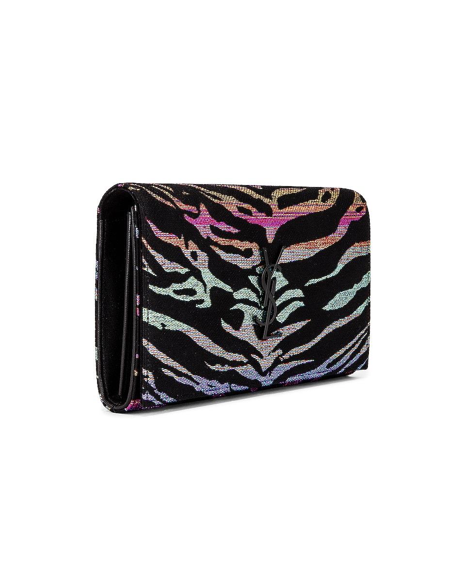 Image 4 of Saint Laurent Monogramme Wallet on Chain Bag in Black & Multicolor