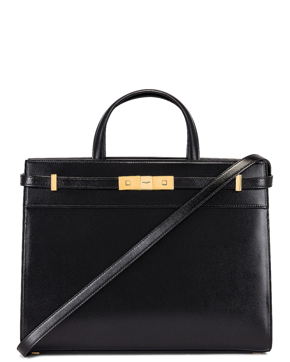 Image 1 of Saint Laurent Small Manhattan Shopping Bag in Nero