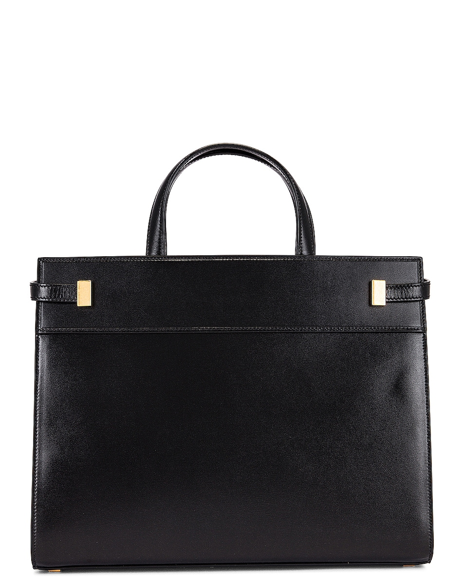 Image 3 of Saint Laurent Small Manhattan Shopping Bag in Nero
