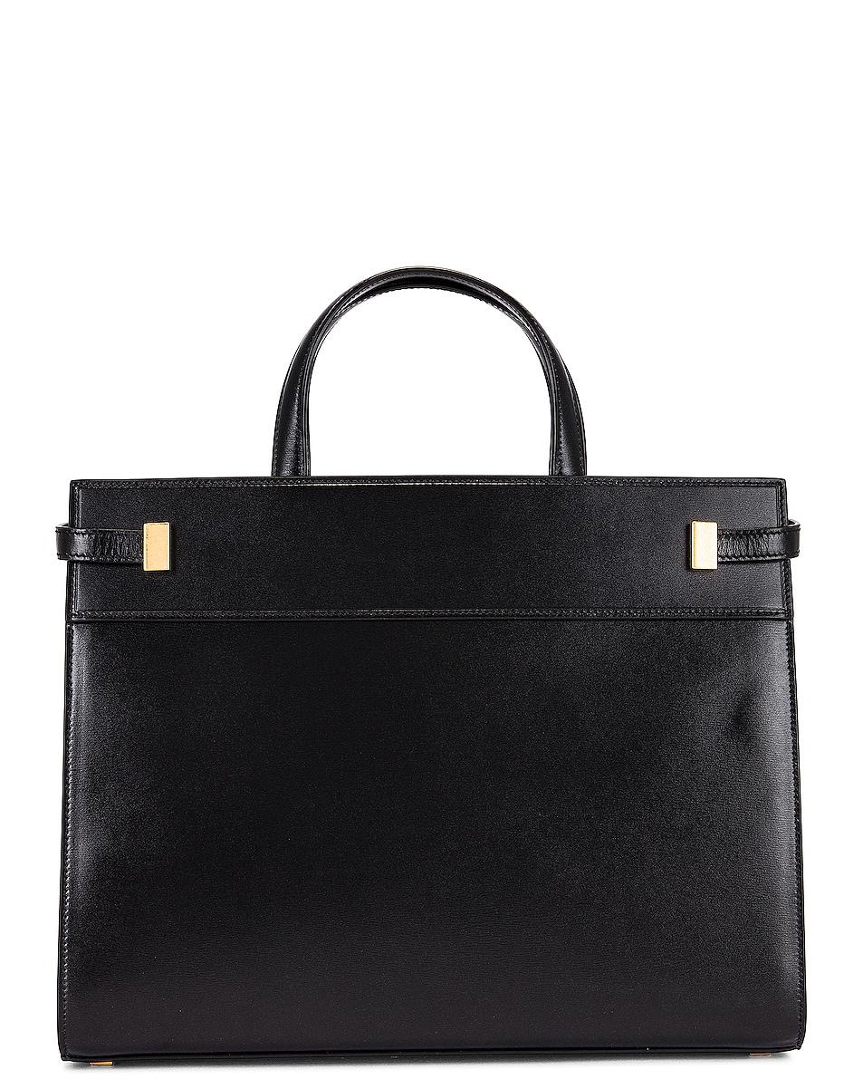 Image 3 of Saint Laurent Manhattan Bag in Nero