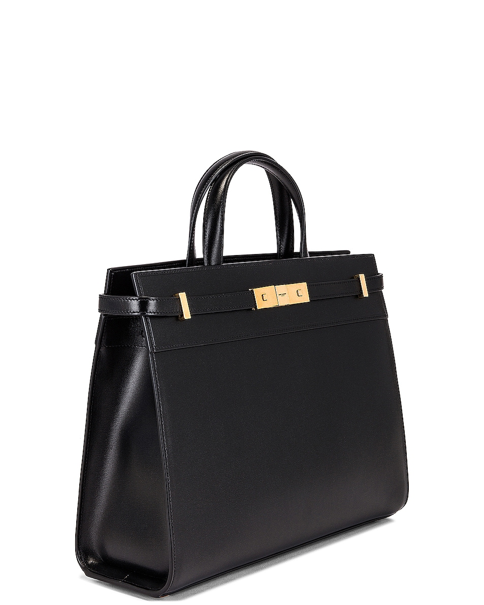 Image 4 of Saint Laurent Small Manhattan Shopping Bag in Nero