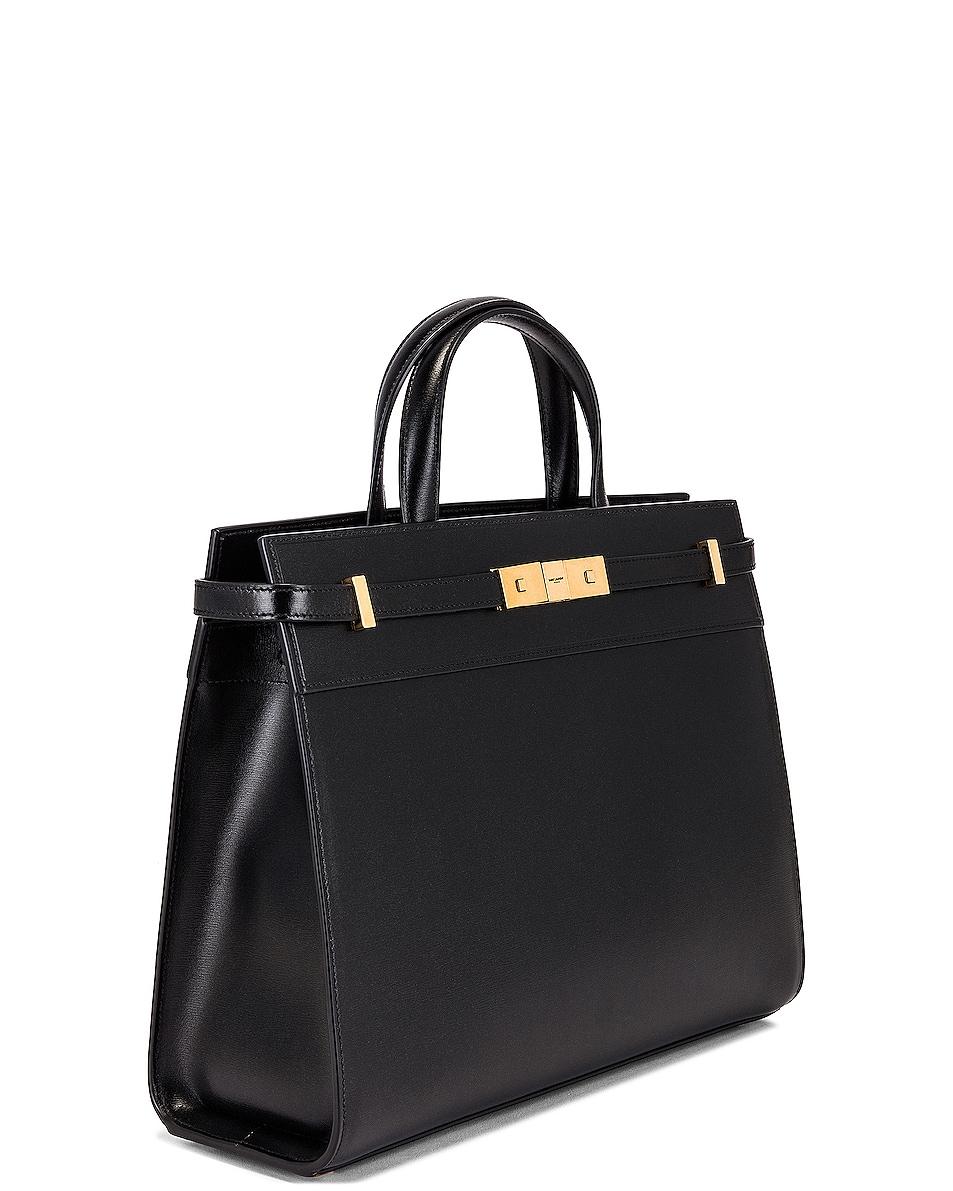 Image 4 of Saint Laurent Manhattan Bag in Nero