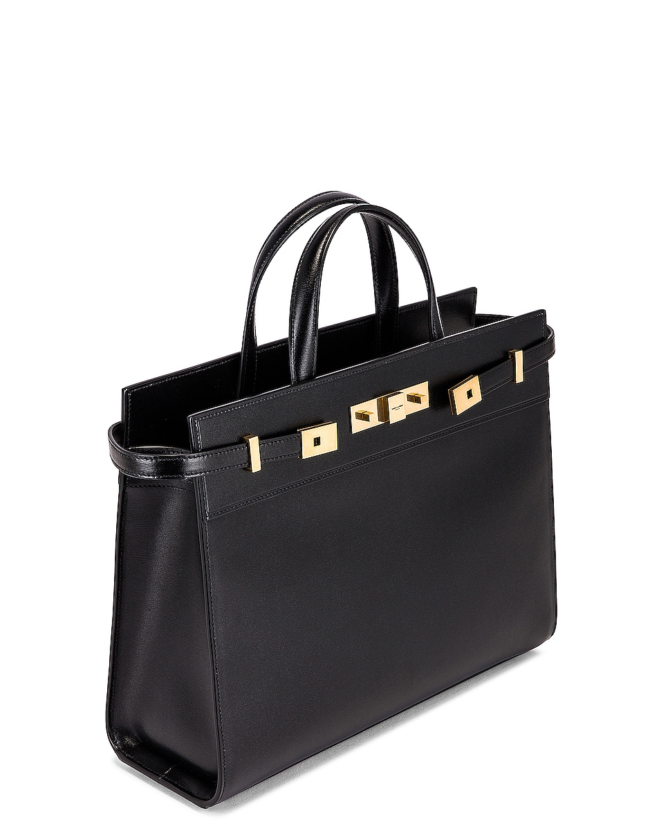 Image 5 of Saint Laurent Small Manhattan Shopping Bag in Nero