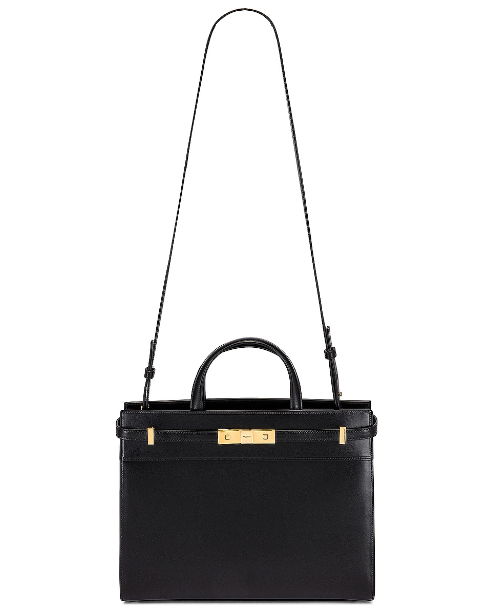 Image 6 of Saint Laurent Small Manhattan Shopping Bag in Nero