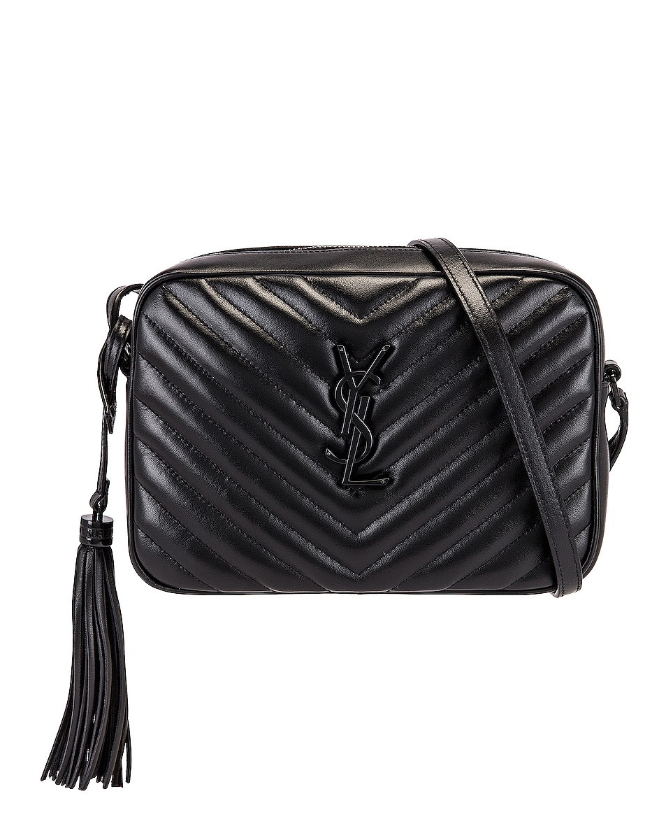 Image 1 of Saint Laurent Bag Monogram Lou M Wi in Nero