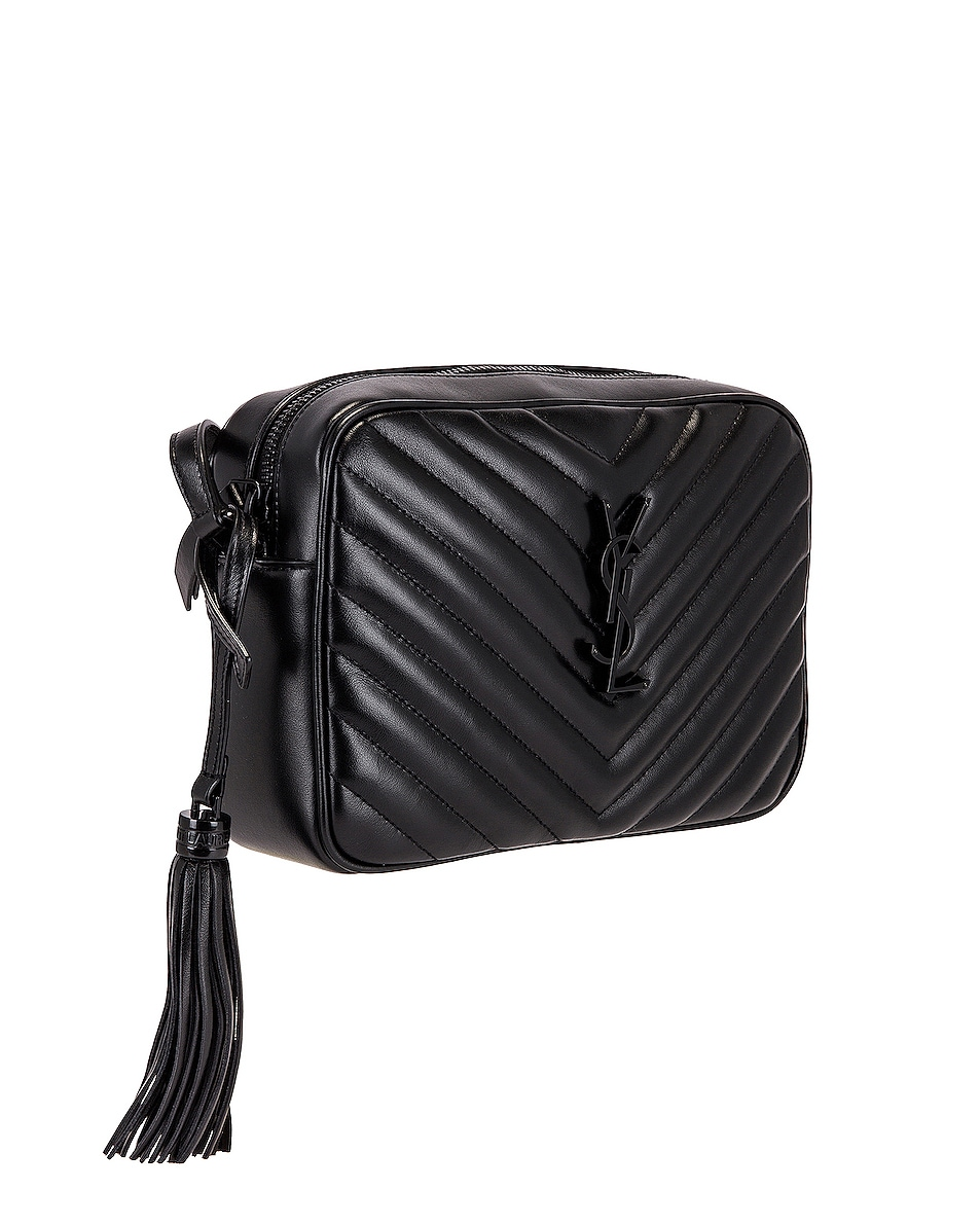 Image 4 of Saint Laurent Bag Monogram Lou M Wi in Nero