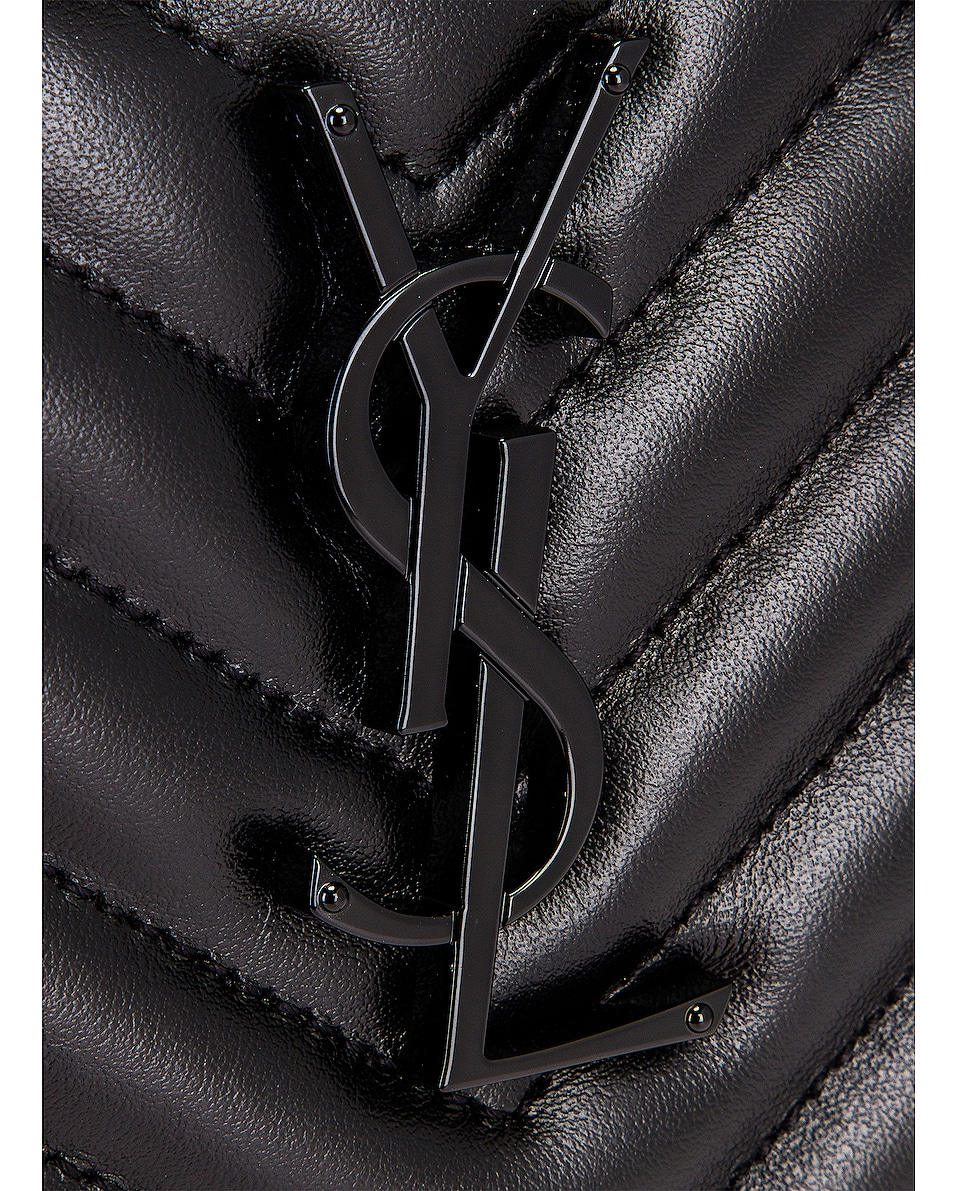 Image 8 of Saint Laurent Bag Monogram Lou M Wi in Nero