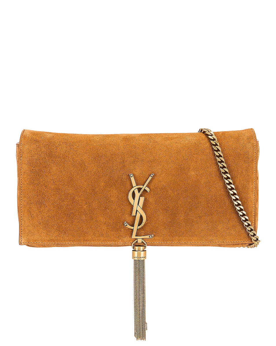 Image 1 of Saint Laurent Kate Monogramme Bag in Cinnamon