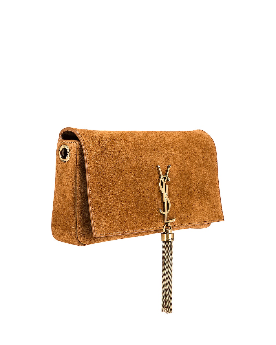 Image 4 of Saint Laurent Kate Monogramme Bag in Cinnamon