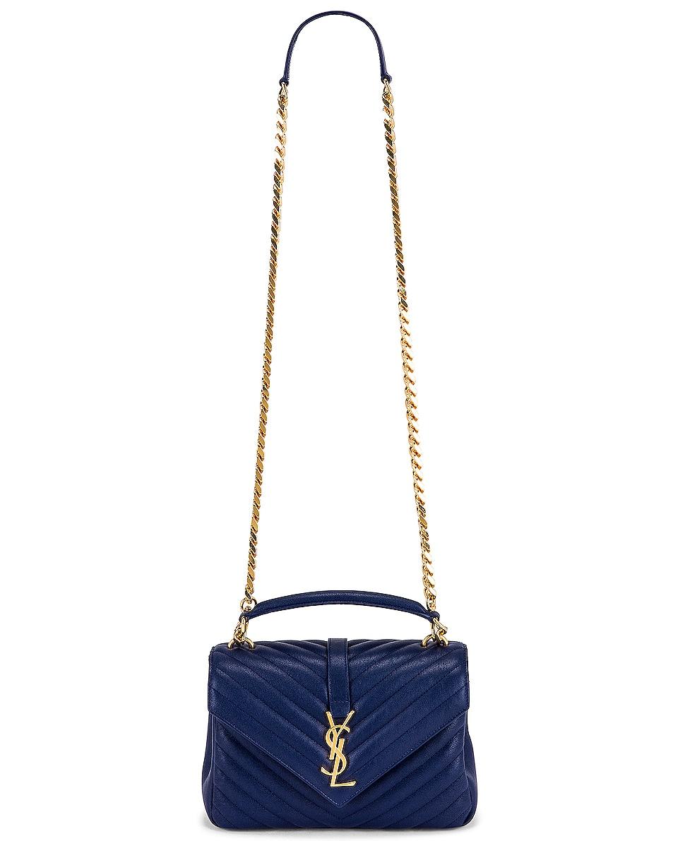 Image 6 of Saint Laurent Medium College Monogramme Bag in Royal Blue