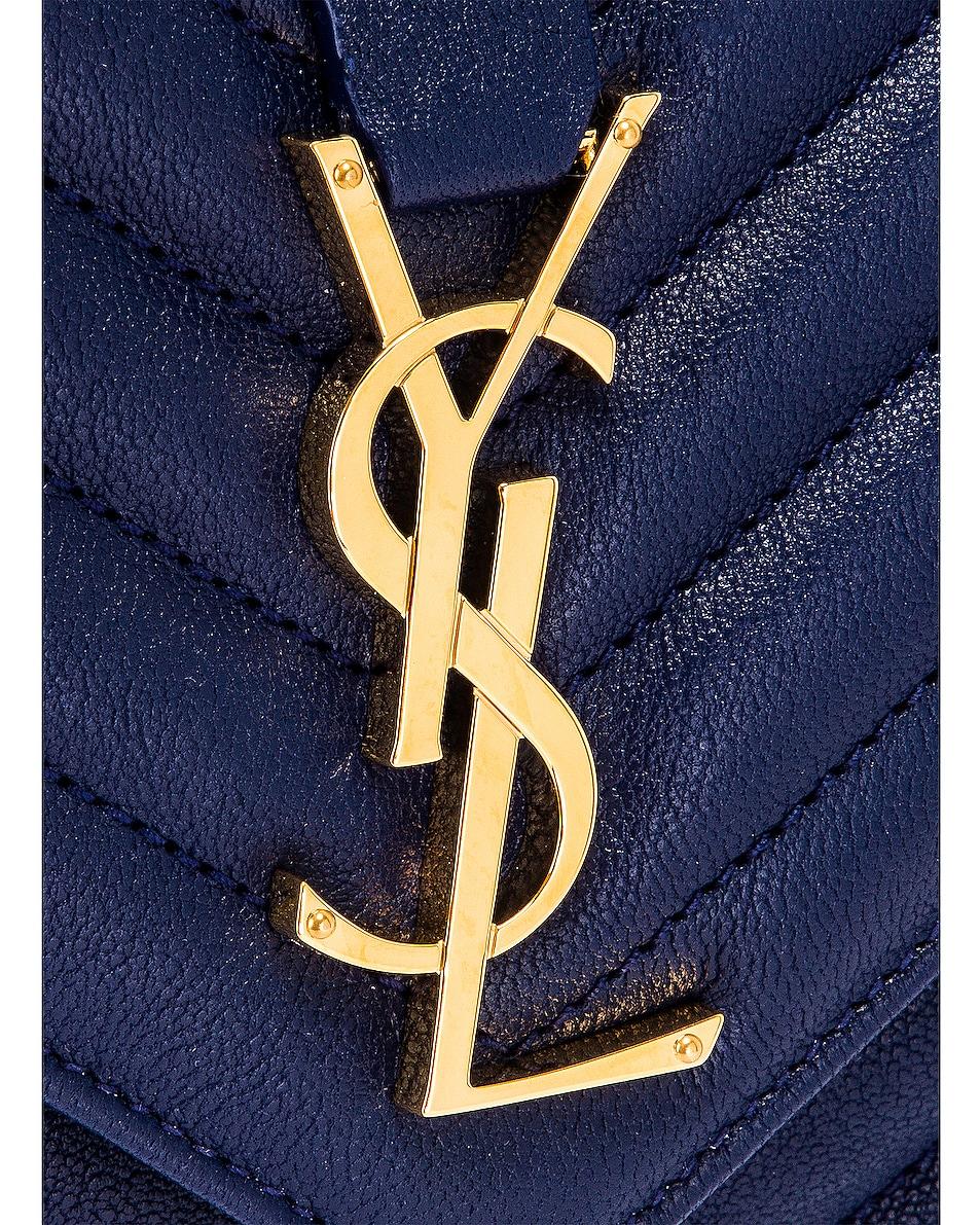 Image 8 of Saint Laurent Medium College Monogramme Bag in Royal Blue