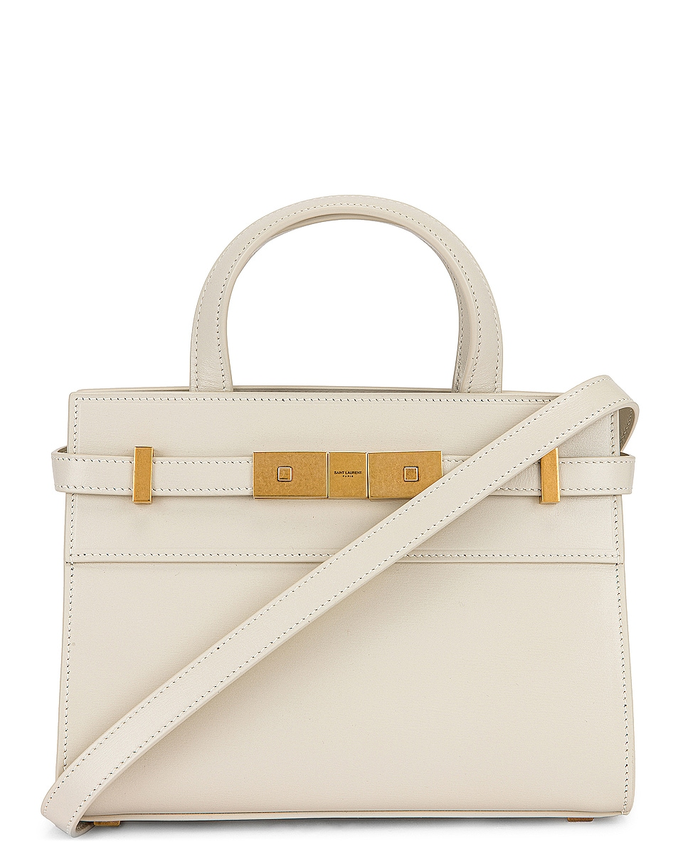 Image 1 of Saint Laurent Nano Manhattan Shopping Bag in Crema Soft