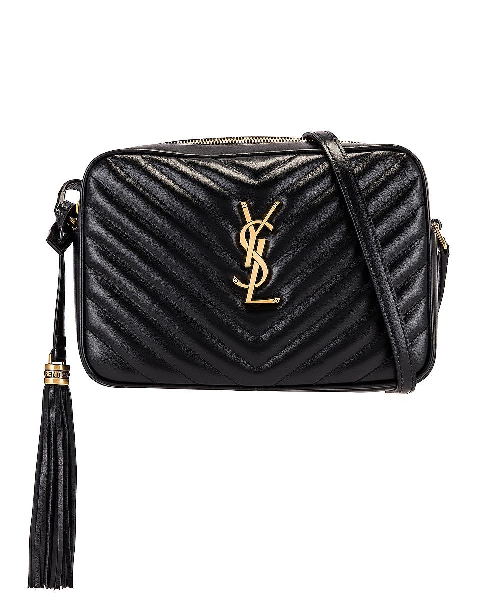 Image 1 of Saint Laurent Medium Lou Monogramme Bag in Nero