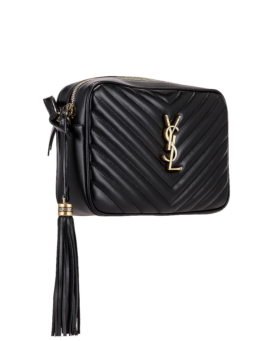 Image 4 of Saint Laurent Medium Lou Monogramme Bag in Nero