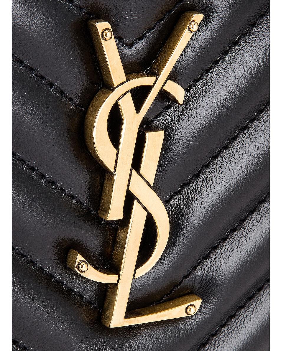Image 8 of Saint Laurent Medium Lou Monogramme Bag in Nero