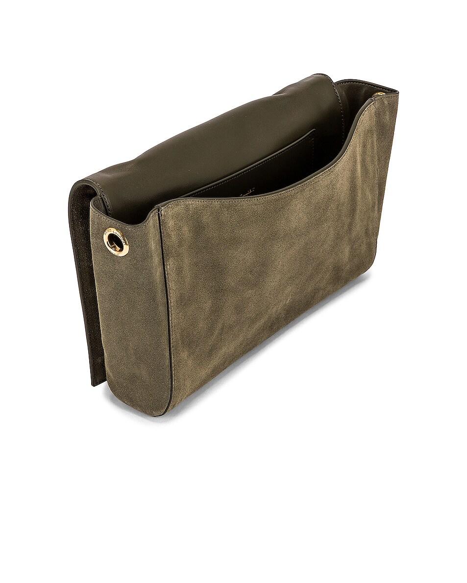 Image 5 of Saint Laurent Kate Reversible Monogram Shoulder Bag in Military Olive