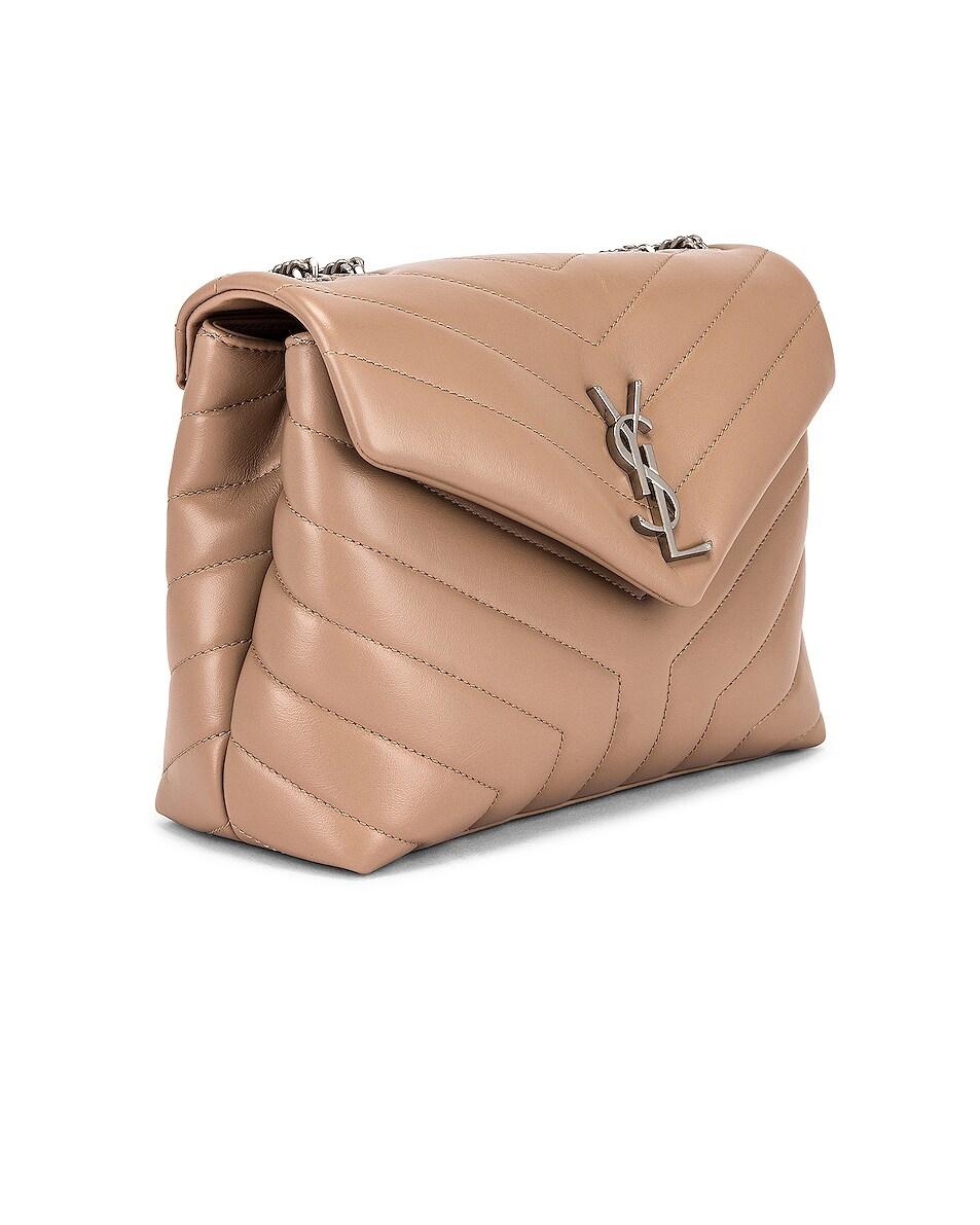 Image 3 of Saint Laurent Small Loulou Shoulder Bag in Gold Sand & Gold Sand