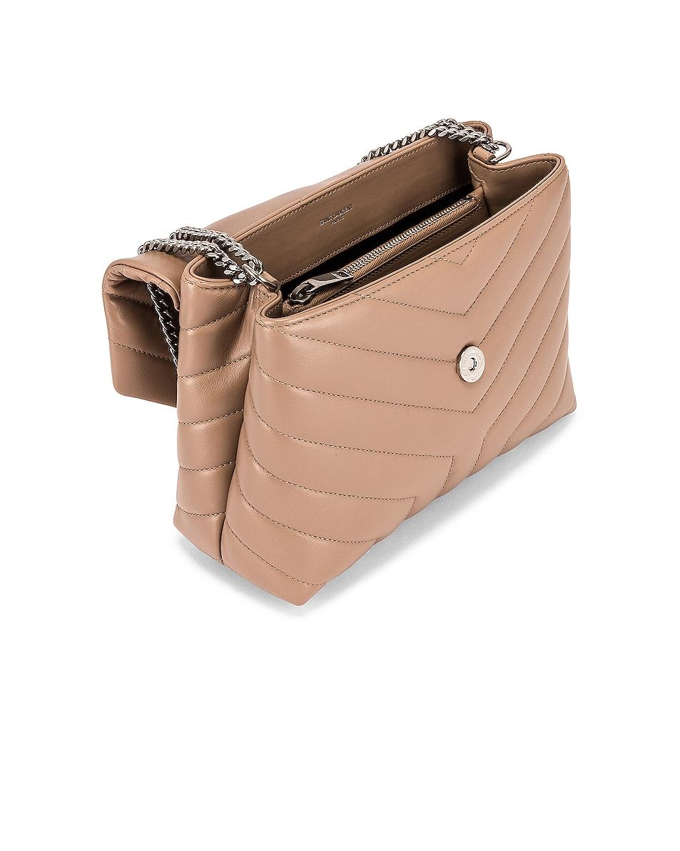 Image 4 of Saint Laurent Small Loulou Shoulder Bag in Gold Sand & Gold Sand