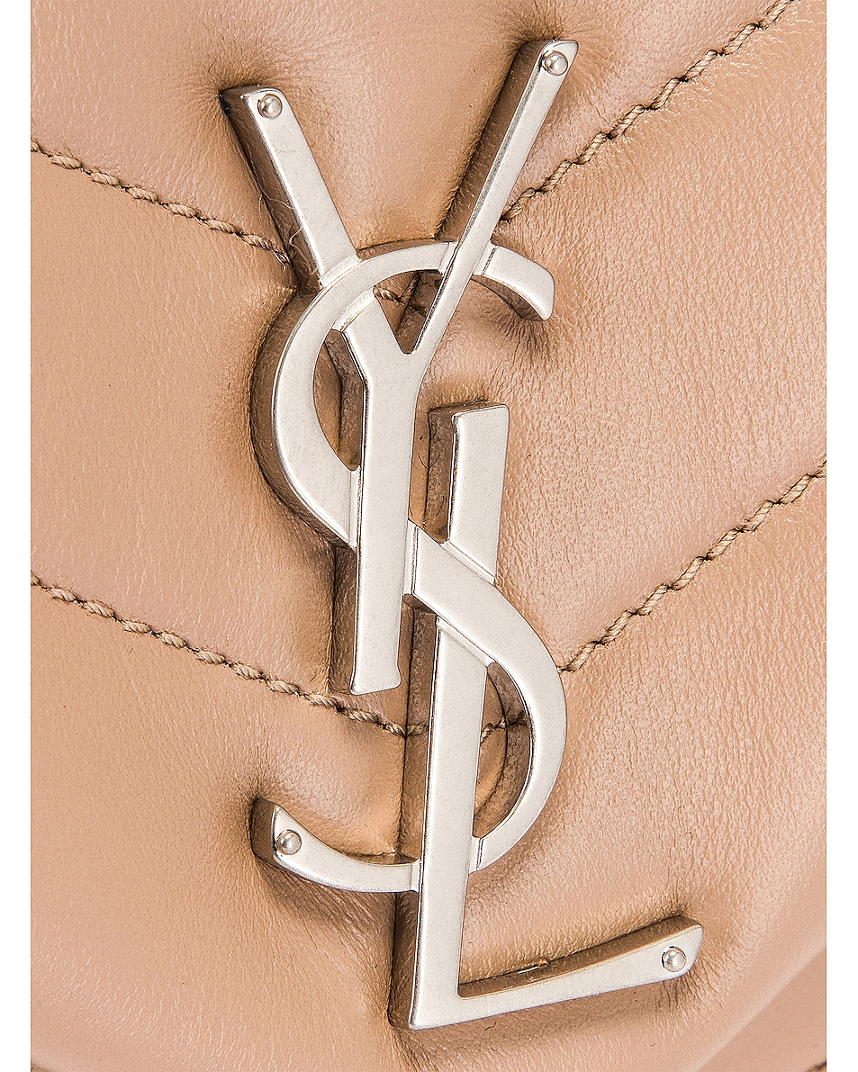 Image 7 of Saint Laurent Small Loulou Shoulder Bag in Gold Sand & Gold Sand