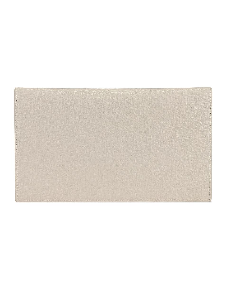 Image 3 of Saint Laurent Medium Uptown Pouch in Crema Soft