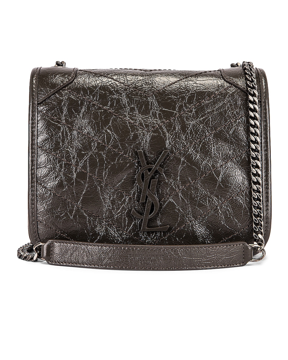 Image 1 of Saint Laurent Niki Chain Wallet Bag in Pebble