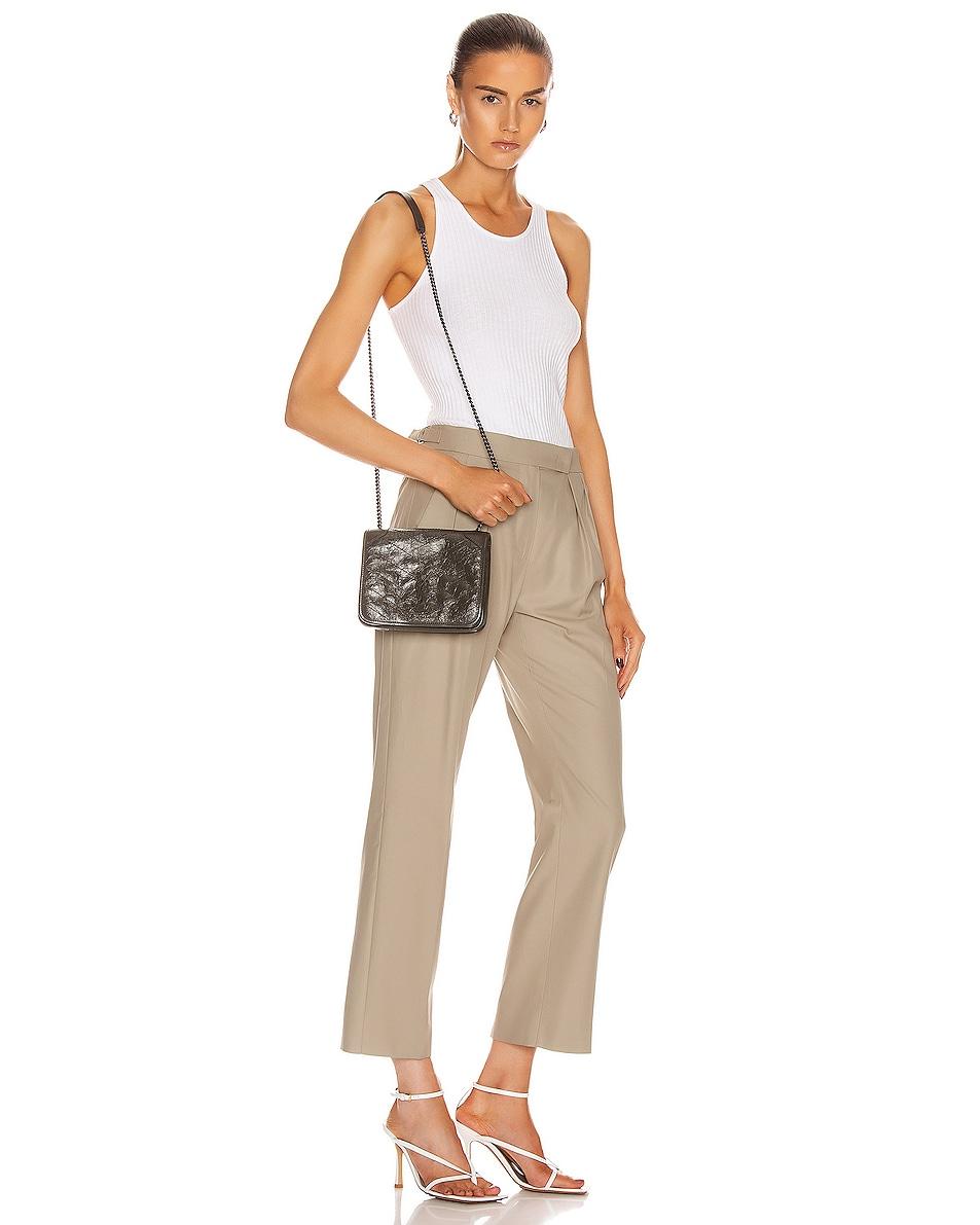 Image 2 of Saint Laurent Niki Chain Wallet Bag in Pebble