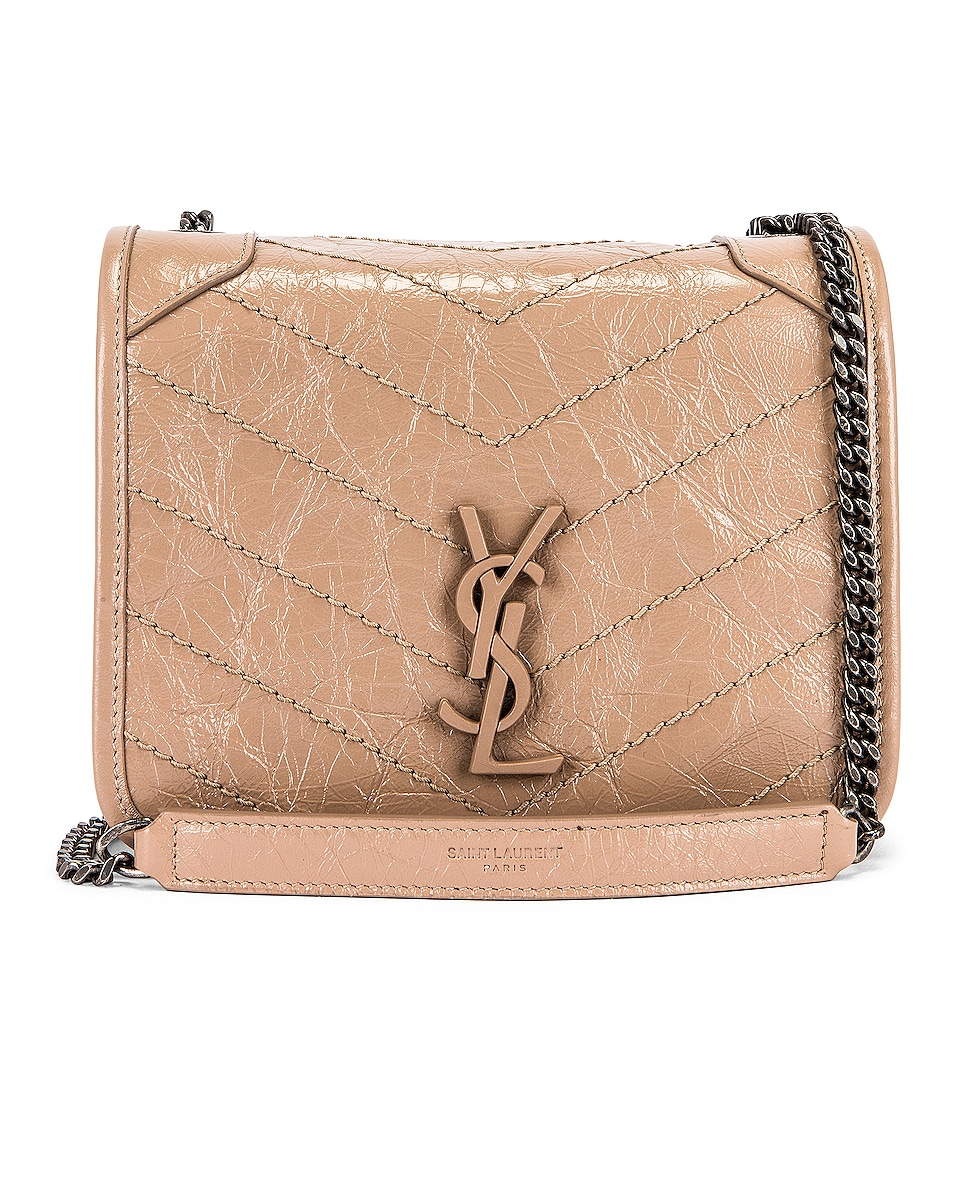Image 1 of Saint Laurent Niki Chain Wallet Bag in Gold Sand