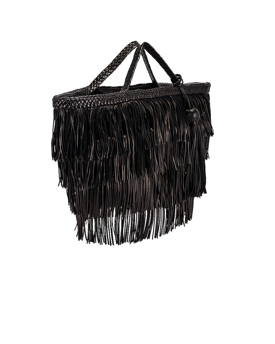 Image 4 of Saint Laurent Panier Fringe Bag in Black