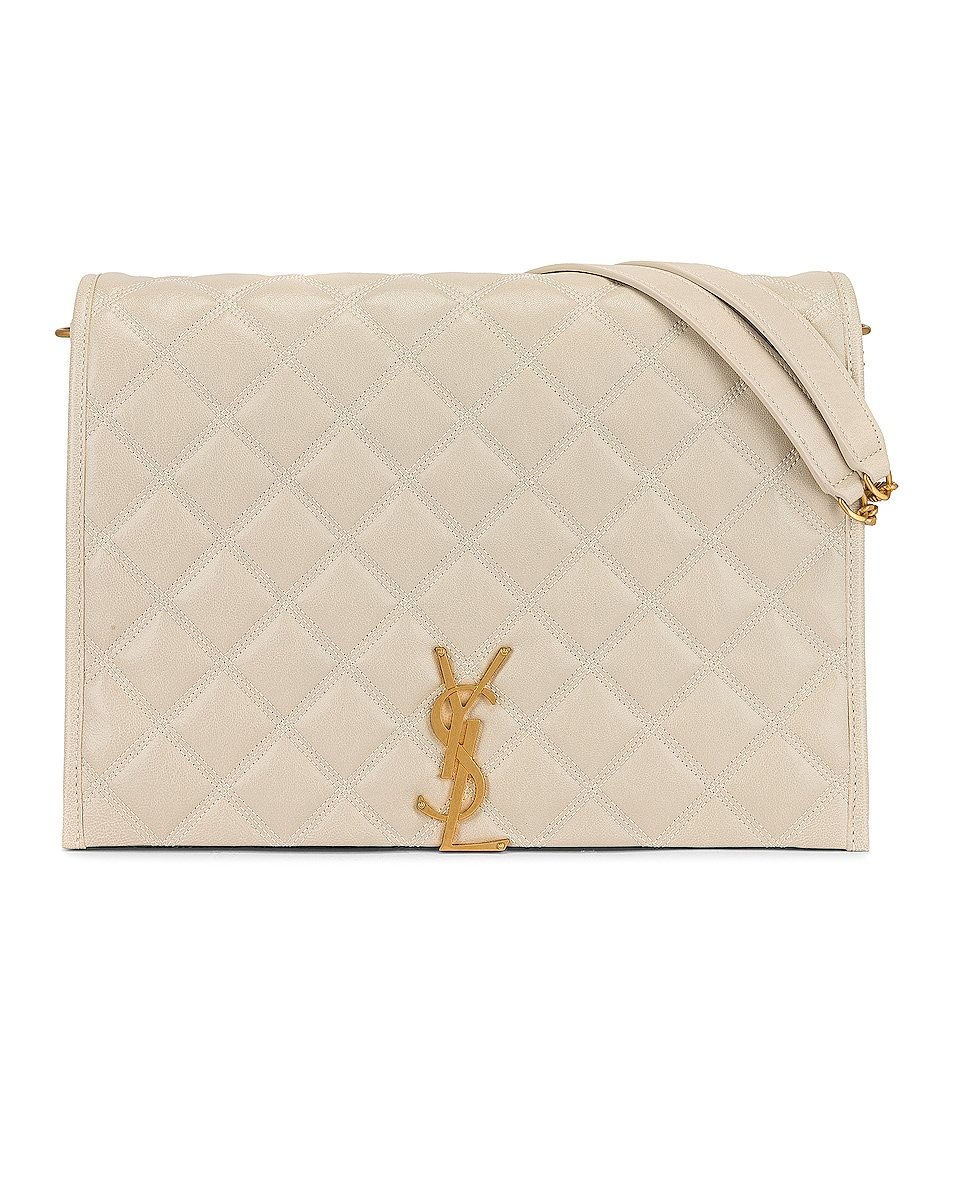 Image 1 of Saint Laurent Large Becky Chain Bag in Crema Soft