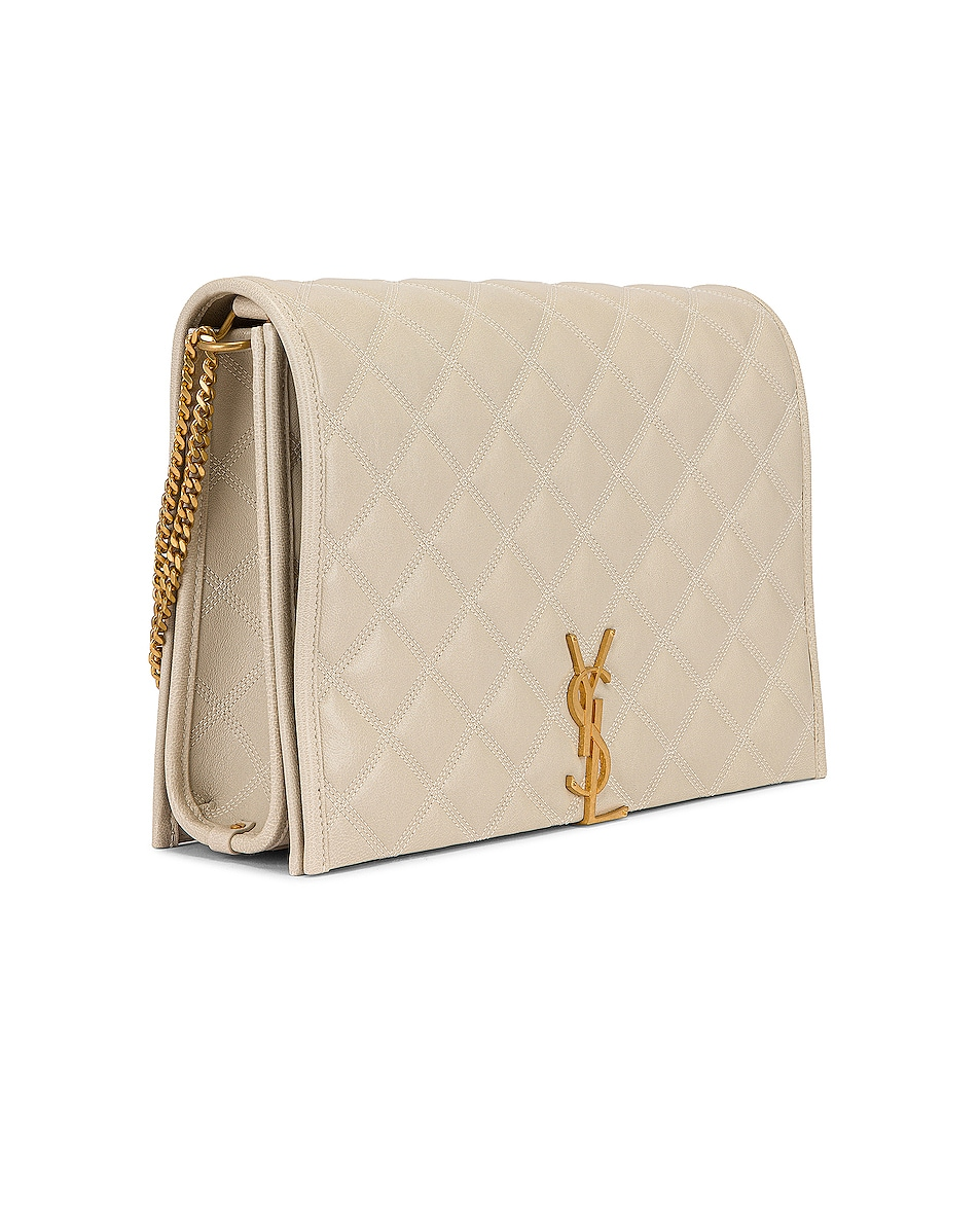 Image 4 of Saint Laurent Large Becky Chain Bag in Crema Soft