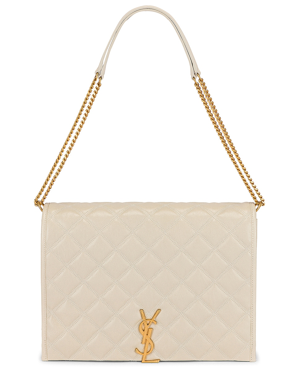 Image 6 of Saint Laurent Large Becky Chain Bag in Crema Soft