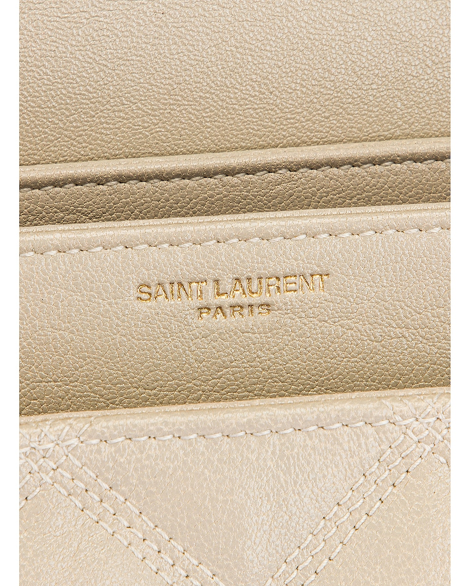 Image 7 of Saint Laurent Large Becky Chain Bag in Crema Soft