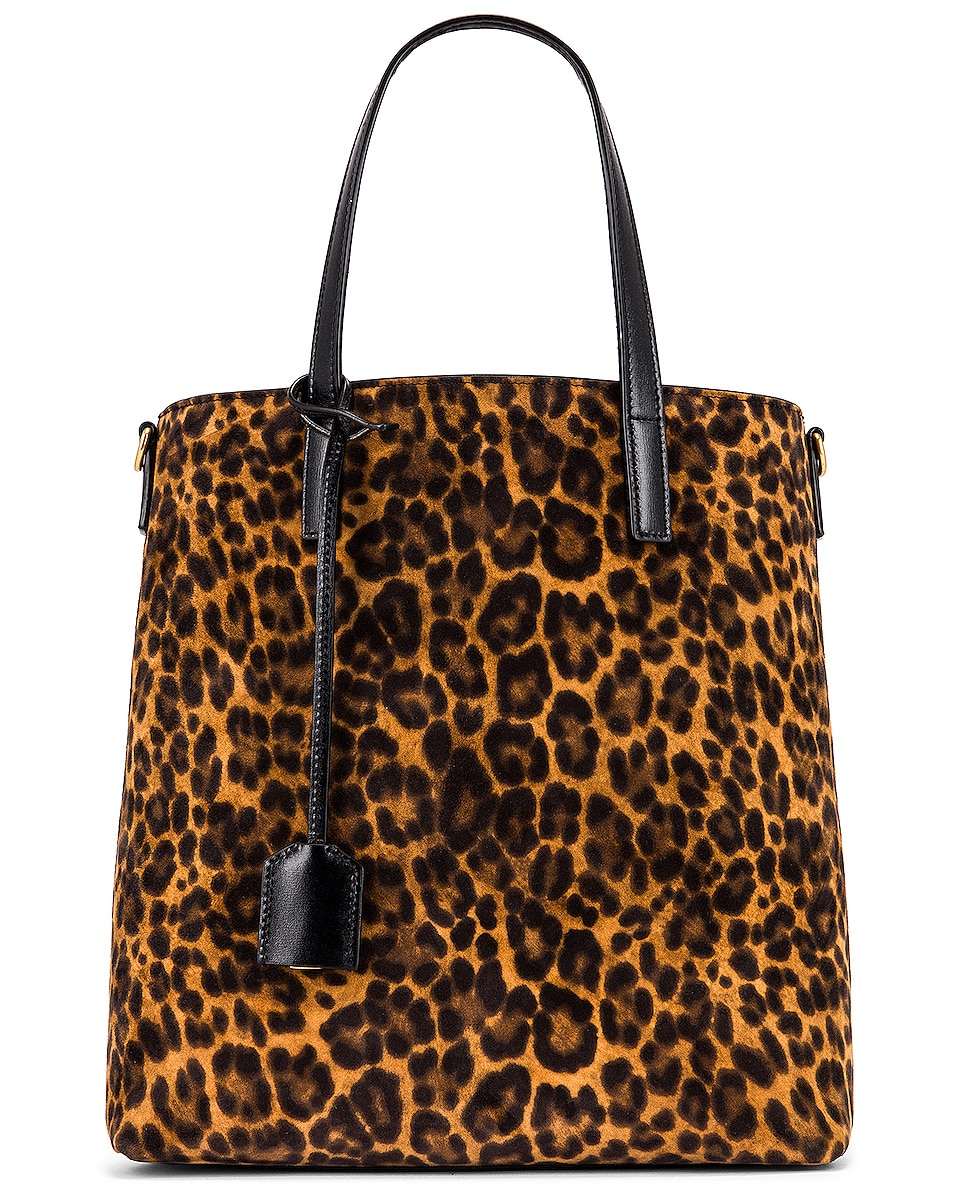 Image 1 of Saint Laurent Toy Shopping Bag in Manto Naturale & Black