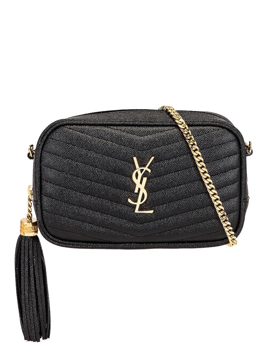 Image 1 of Saint Laurent Mini Lou Chain Bag in Nero