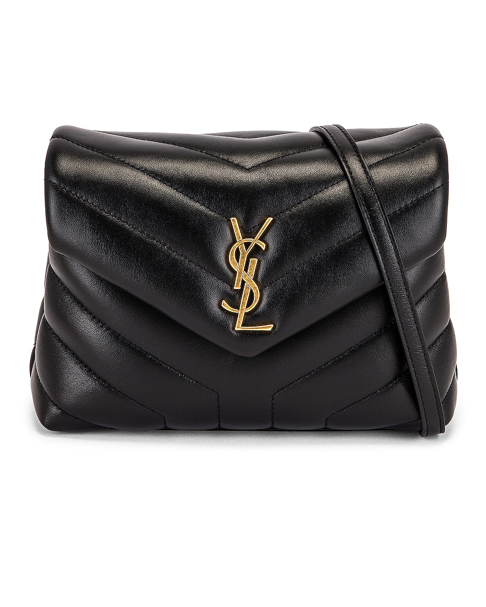 Image 1 of Saint Laurent Loulou Toy Strap Bag in Noir