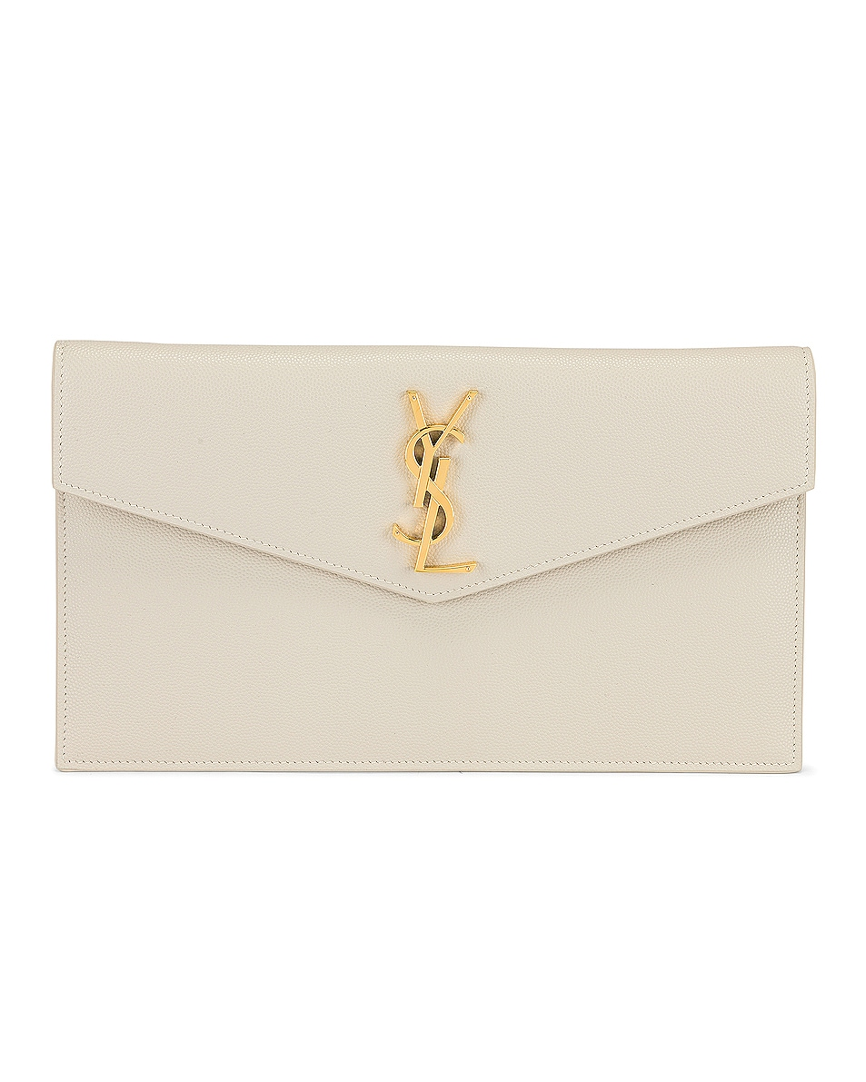 Image 1 of Saint Laurent Uptown Pouch in Crema Soft