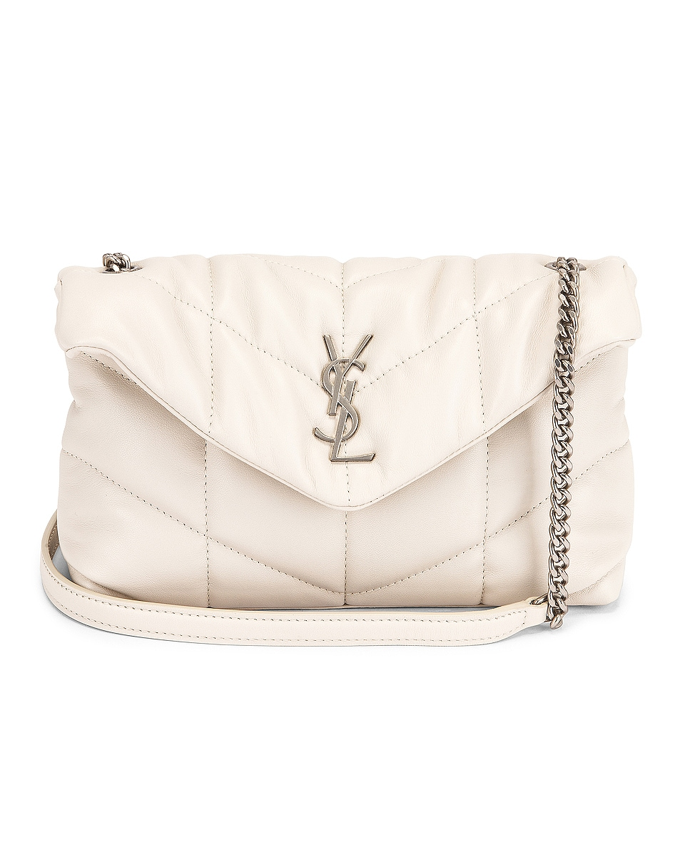 Image 1 of Saint Laurent Toy Puffer Loulou Bag in Blanc Vintage
