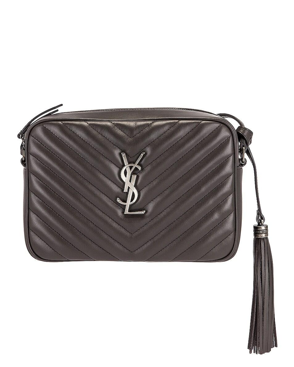 Image 1 of Saint Laurent Medium Lou Satchel Bag in Asphalt