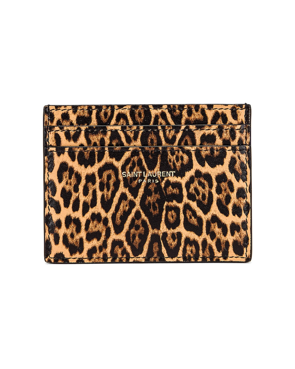 Image 1 of Saint Laurent Card Case in Toffee & Naturale