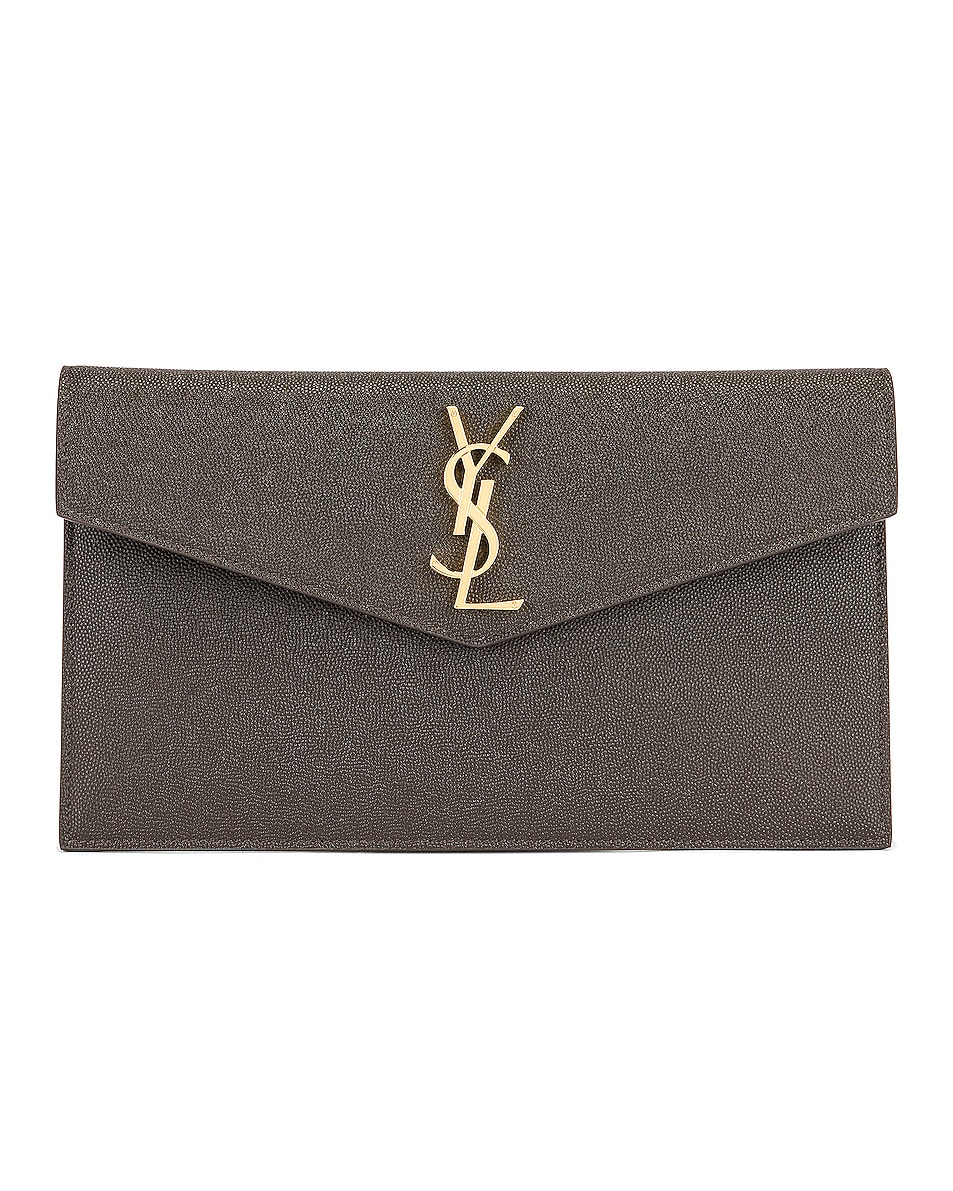 Image 1 of Saint Laurent Uptown Pouch in Pebble