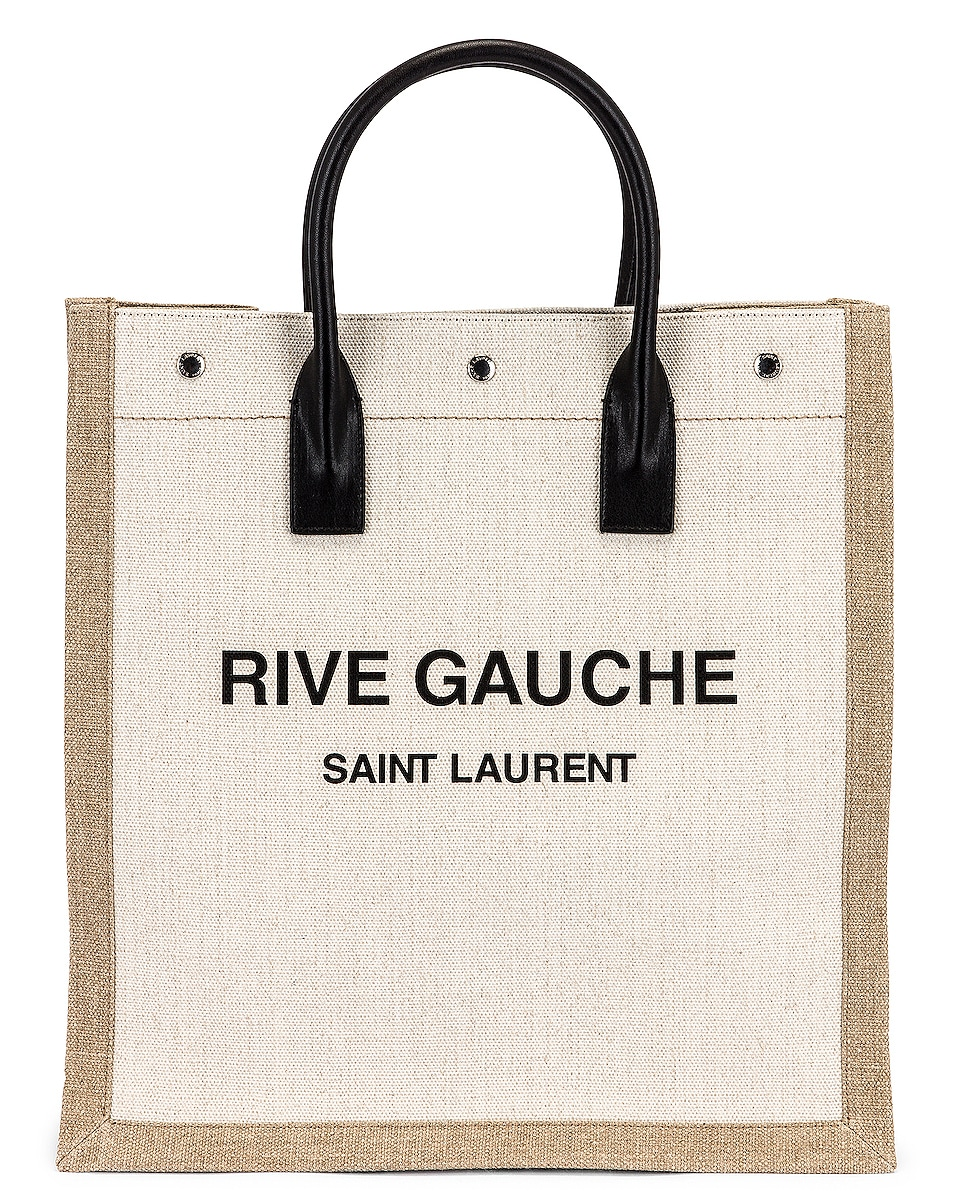 Image 1 of Saint Laurent Noe North South Tote in Lino Bianco & Nero